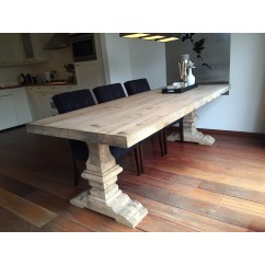 Kloostertafel Grenen Grey